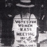 Mass meeting of Irish suffrage Societies
