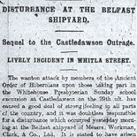 Sectarian Violence in Belfast